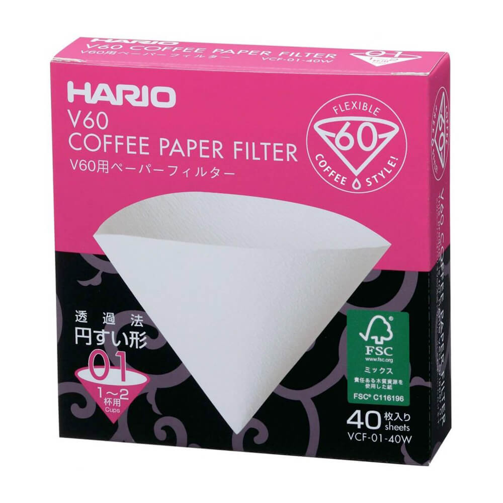 Hario filtre V60-01 - 40 pièces (made in Japan)