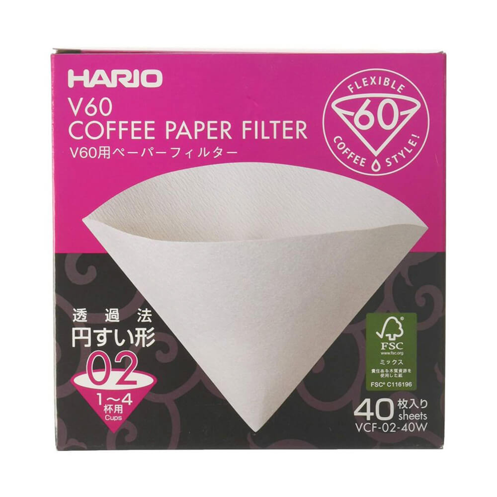 Hario filtre V60-02 - 40 pièces (made in Japan)