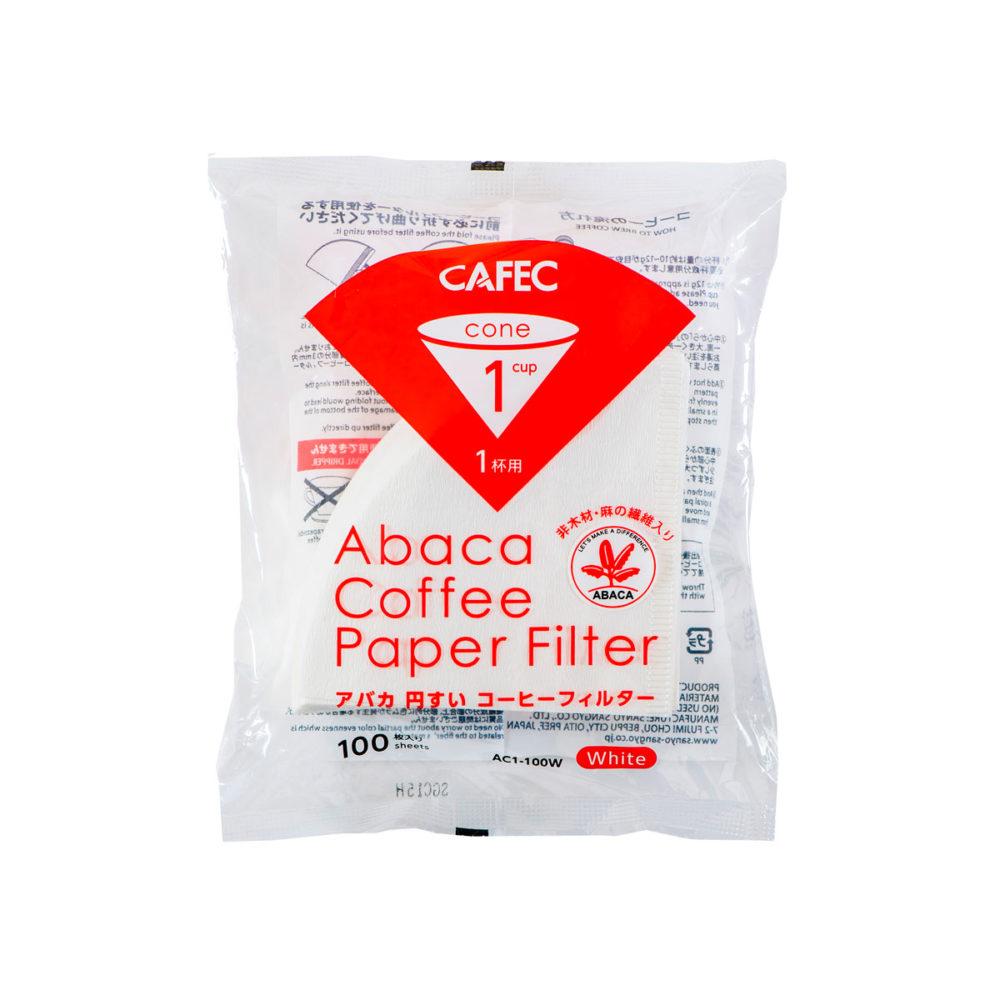 Filtre Abaca (blanc) 1 tasse - 100 pièces